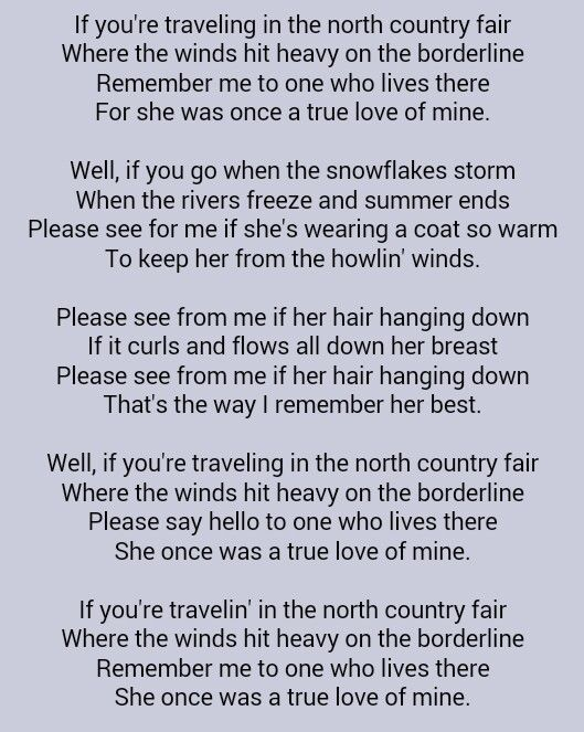Bob Dylan . Girl From the North Country