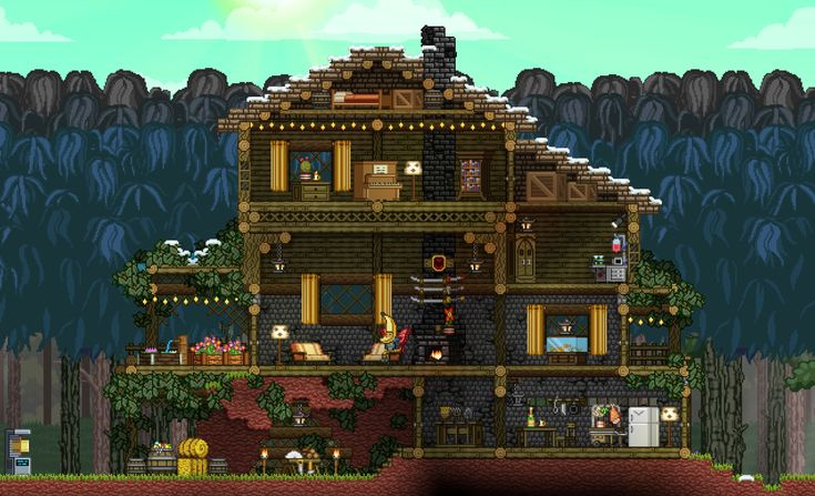 Starbound Pretty House Terraria And Starbound