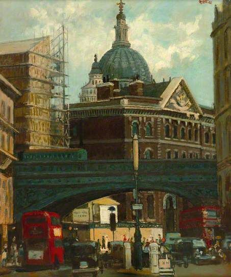 Blackfriars, London painted 1962 Charles James McCall