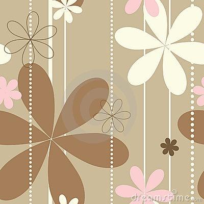 Retro beige floral seamless pattern by Angela Jones, via Dreamstime