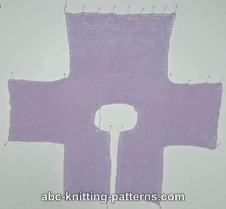 ABC Knitting Patterns - Easy Garter Stitch Baby Cardigan.