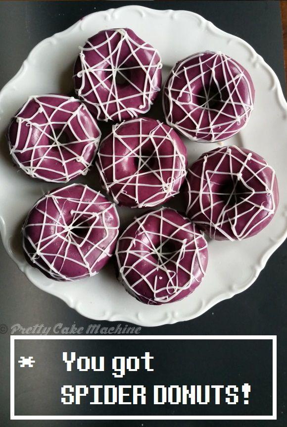 Recipe/Tutorial: Spider Donuts (Undertale Undertea, part 2)   Pretty Cake Machine