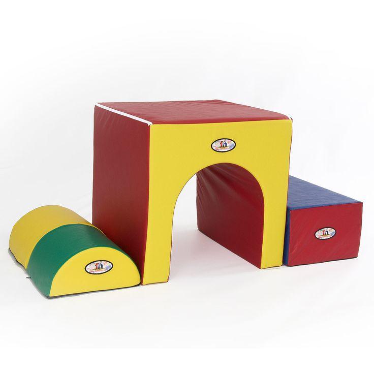 Foamnasium 3 Piece Kids Tunnel of Fun