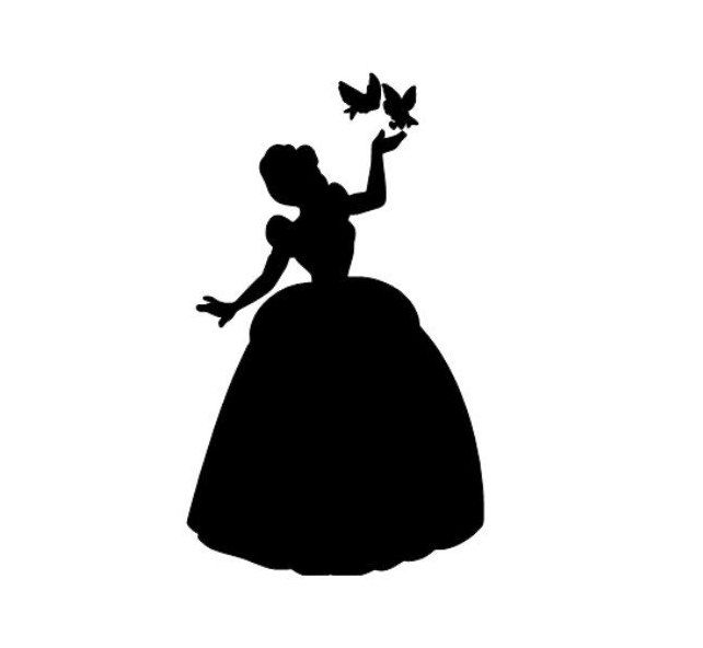 Cinderella Inspired Svg Disney Inspired Princess Svg Etsy In 2021 Disney Princess Silhouette Cinderella Silhouette Watercolor Disney