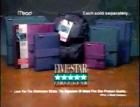 The binder of the 90s (besides the Trapper Keeper): the Five-Star.