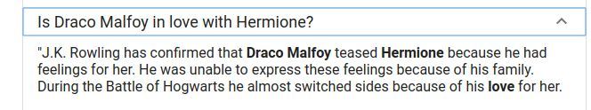 Guys, I found this while I was researching Draco Malfoy. I don't know who has and hasn't seen this, but I've never seen it before so....... I'M FREAKING OUT BECAUSE DRAMIONE AND DRACO AND HERMIONE AND JUST HARRY POTTER IN GENERAL GOD I LOVE J.K. ROWLING!!!