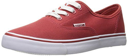 Osiris Women's LA Skateboarding Shoe, Red/White, 9.5 M US >>> Want to know more, click on the image.