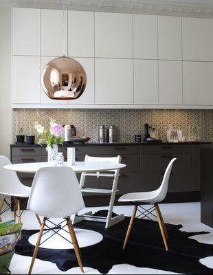kitchen ikea   Genau so in den Farben will ich meine Küche selbst die Kupfer Lampen will ich :)