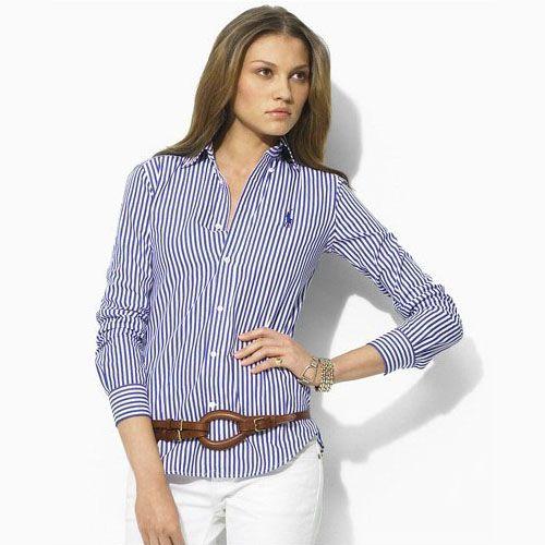 Comprare Ralph Lauren camicie sportive slim-fit chelsea camicia a righe a buon mercato outlet online italia
