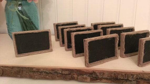 rustic table numbers framed chalkboard table by RedHeartCreations