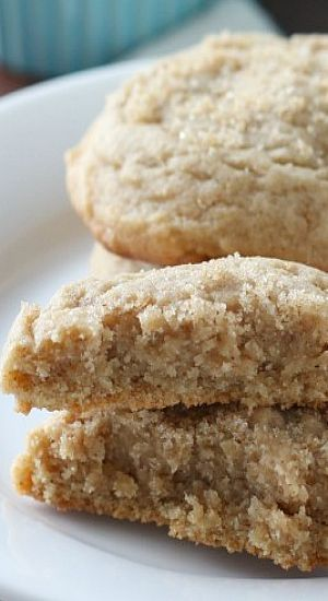Perfectly soft brown sugar cookies are filled with maple and nutmeg.