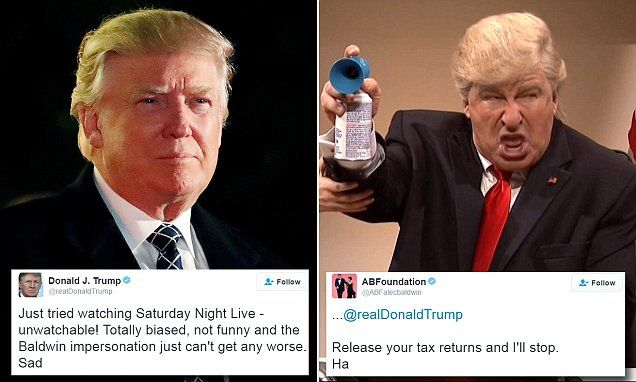 Donald Trump goes after Saturday Night Live on Twitter again