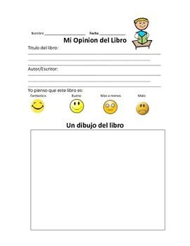 Three book reviews for students to fill out after reading a book at their independent reading level. All three book reviews are in Spanish. This is a great resource for when students are working on Opinion Writing. They get to write a book review and give their opinion about the book.