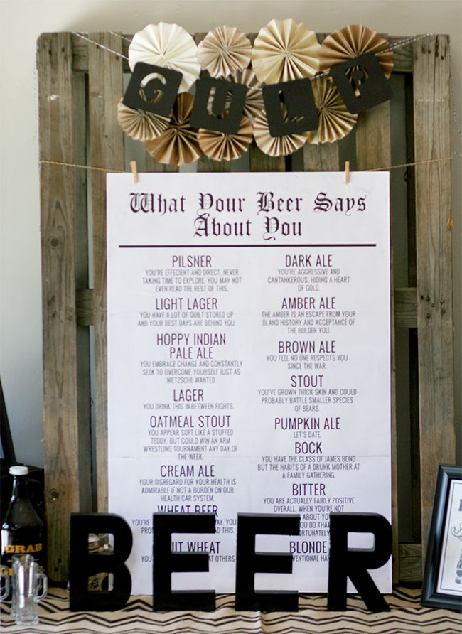 What Does Your Beer Say About You? This is a hilarious printable!