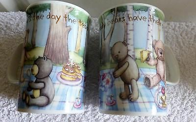 Beautiful bone #porcelain mugs -  #teddy bear #design's see picture's,  View more on the LINK: http://www.zeppy.io/product/gb/2/222366103005/