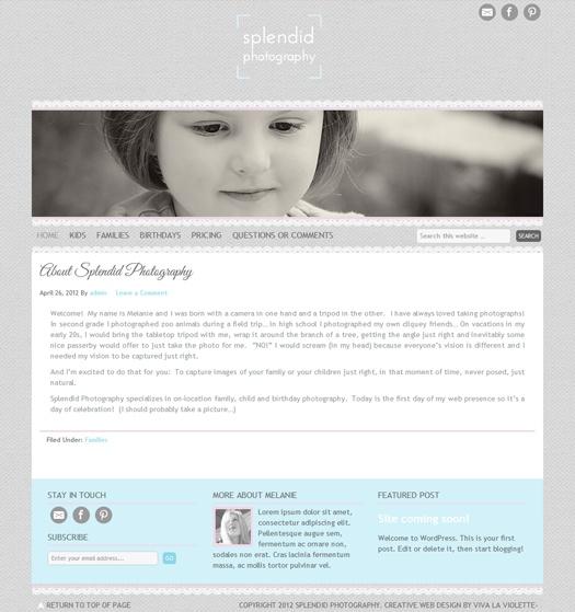 Creative Web Design by Viva la Violette