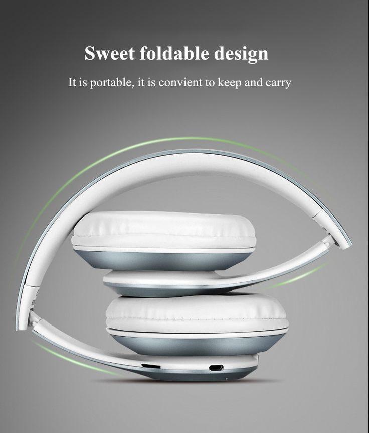 P15 Sport Foldable AUX FM Radio TF Card Wireless Bluetooth 4.0 Headphone Headset With Mic
