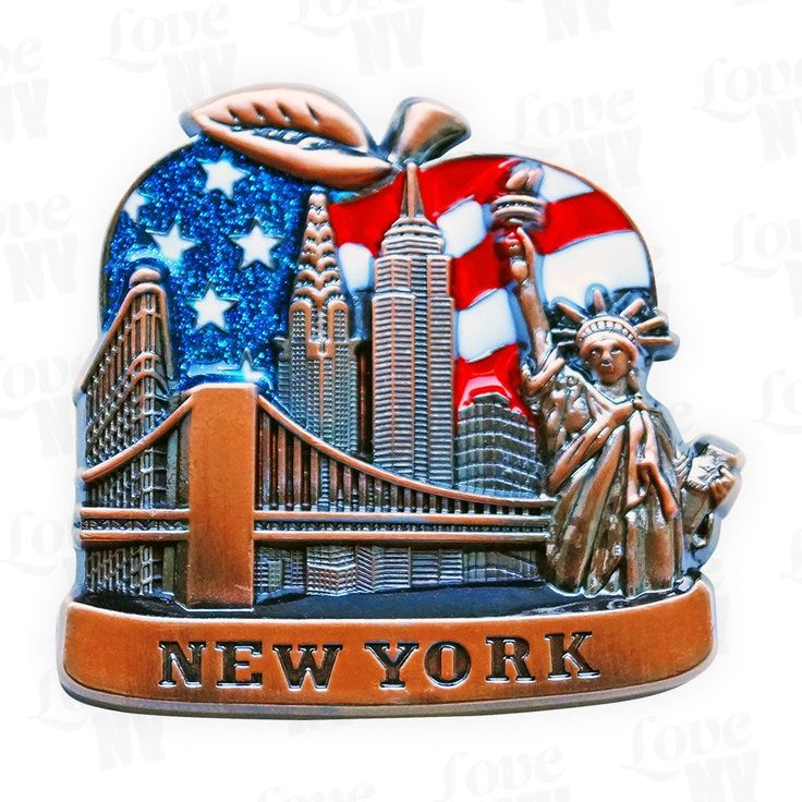 New York Big Apple Skyline Magnet #Big-Apple #Buero #Büro #BigApple #NYC #NewYorkCity #USA #America #Amerika #Flag #Fahne #Skyline #Magnet #Magnets