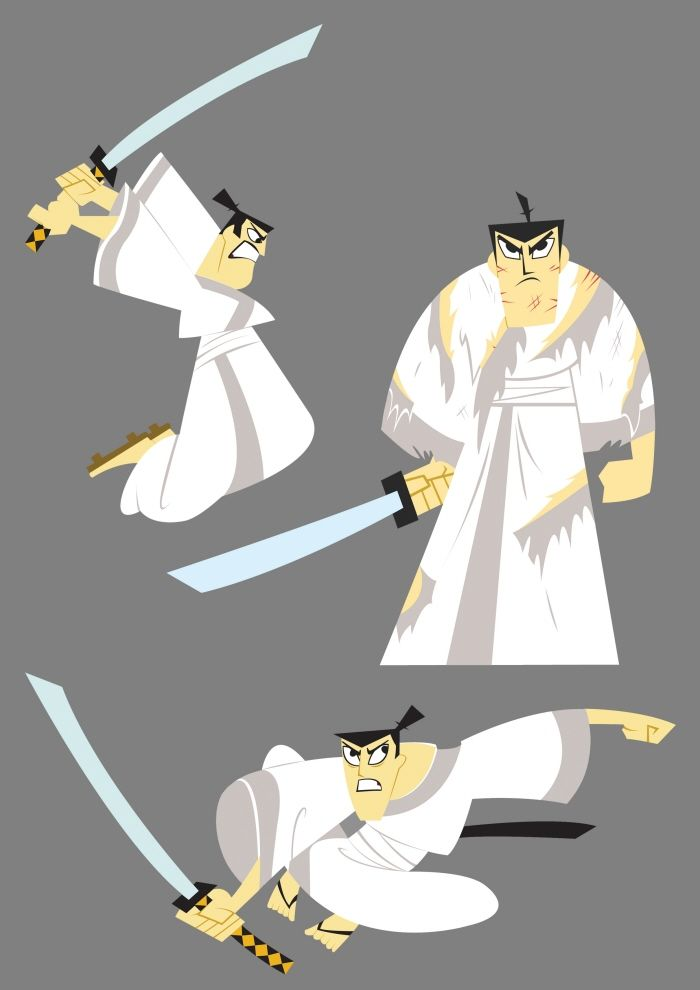 Samurai Jack. A terrific character. Falls into my personal philosophy about swords. There is no single superior martial art. Learn all you can, and make it a part of you. - Kendall