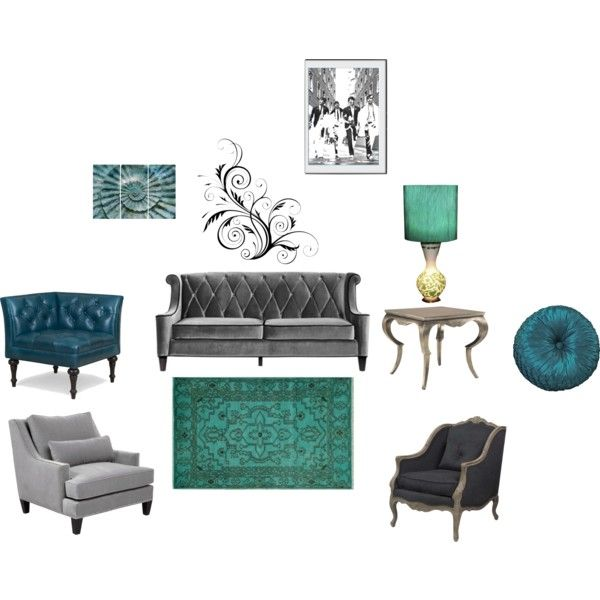 61 best images about peacock blue living room ideas on - Blue and silver living room ...