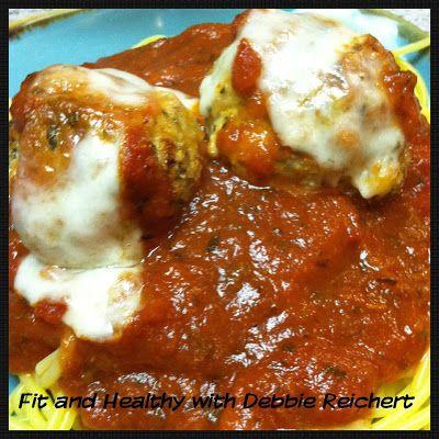 Chicken Parmigiana meatballs - Fit and Healthy with Debbie