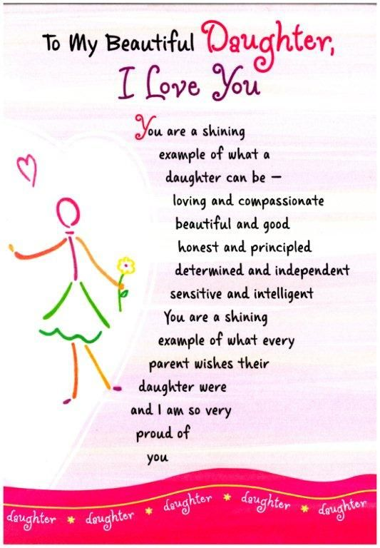 ~ To My Beautiful Daughter, I Love You (Thoughts Of Life)
