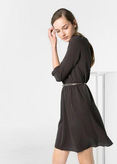Belted flowy dress