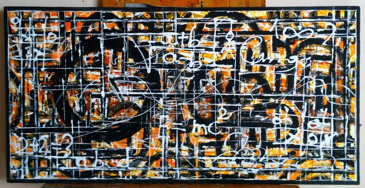 "De Flo Nr.217.Abstracta painting [Classical IQ Test]- D-[100x50] Pictura abstracta lucrari originale De Flo ""The painting has a life of its own. I try to let it come through""     -Jackson Pollock-"
