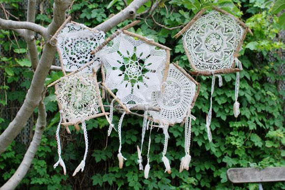 DIY: doily dream catchers (in french)