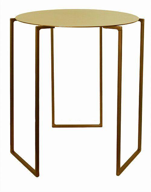 Metallic Triad Side Table