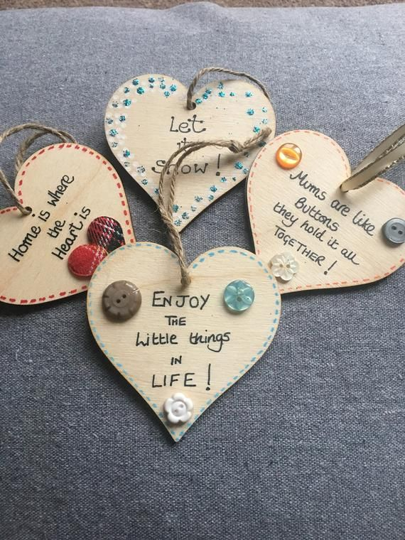 Decorated Hearts Etsy Wooden Hearts Crafts Wooden Hearts Diy Hand Crafted Gifts