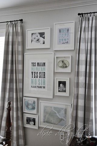 Boys room art  framed baby bib, how to tie a tie  frames from IKEA