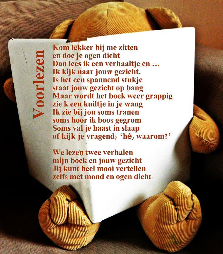 Moooooi gedichtje over voorlezen...