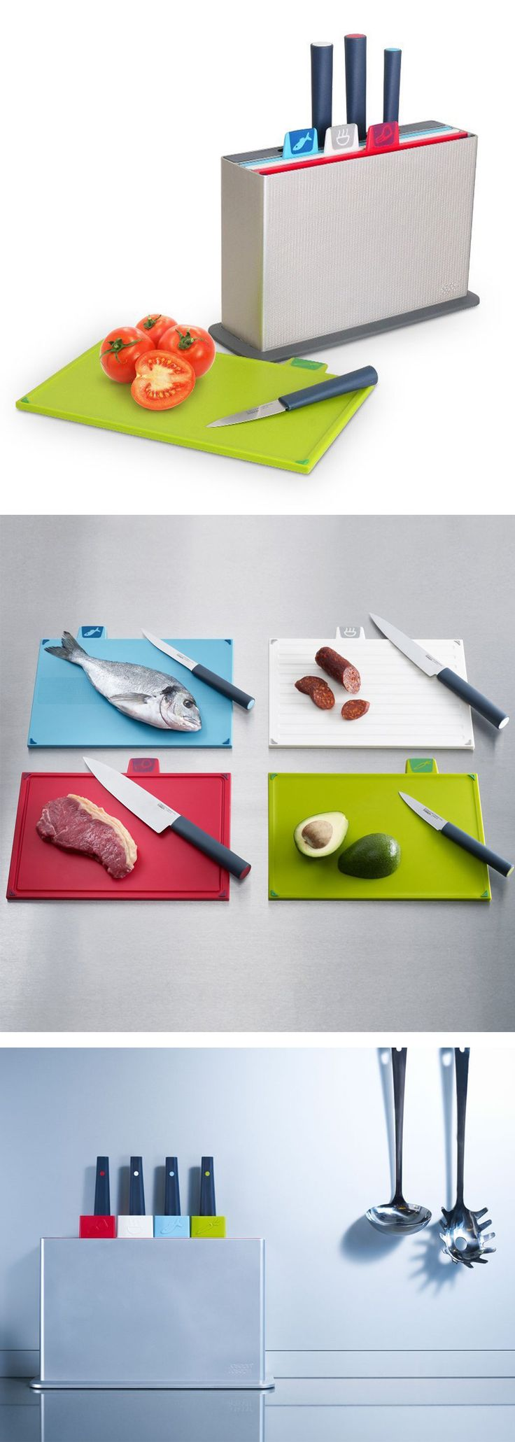 Check it out==> Take action and practice proper hygiene in the kitchen ASAP. Get organized and never be confused again. This set come in easy to read labels and index. Check it out==> http://gwyl.io/joseph-joseph-advanced-knives-chopping-boards/