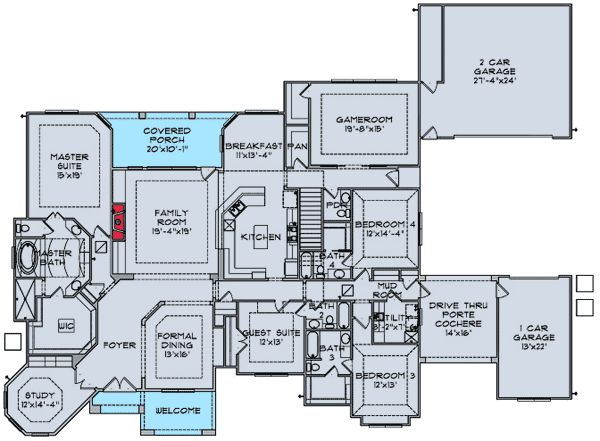 house plan with mudroom shower. 111 best House Plans images on Pinterest  European house plans design and Cottage home