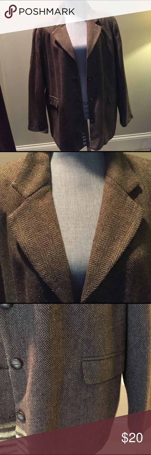 Women's Tweed Jacket Size 2X . Tweed Jacket Size 2X . Fully lined . 58% viscose, 30% wool, 12% silk. Gently worn. Smoke free environment. Cynthia Taylor Jackets & Coats Blazers