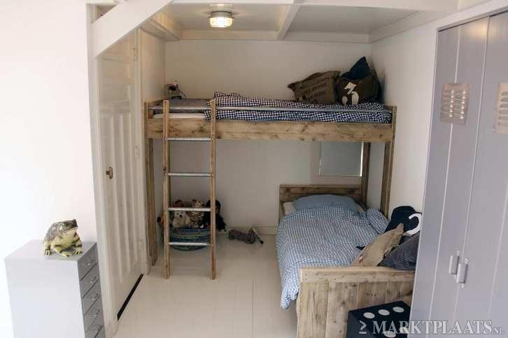 Marktplaats.nl - Kinderbed/hoogslaper steigerhout: zeer mooi afgewerkt! - Kinderkamer | Bedden