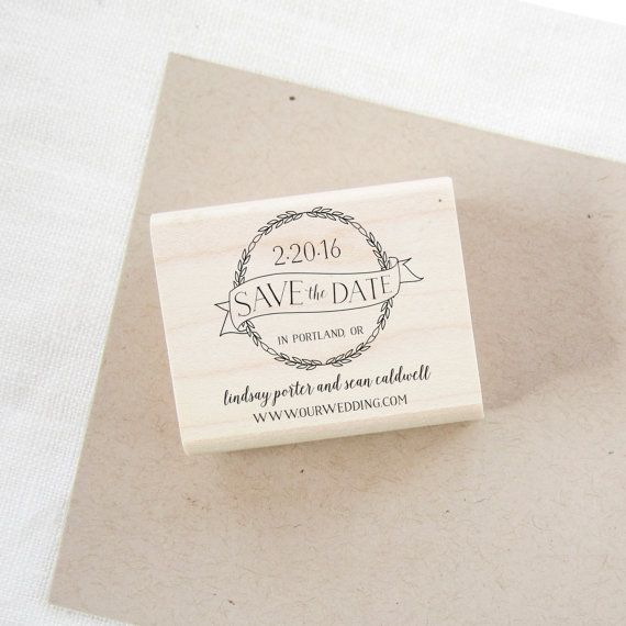 Etsy $22 SushiStamps   Save The Date Stamp   Wedding Invitation Stamp   Wedding  Stamp