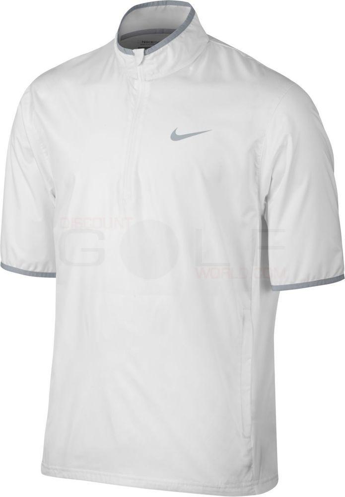 Nike Golf Men's Shield Short Sleeve Jacket White M 833302-100 MSRP $80 #Nike #Apparel