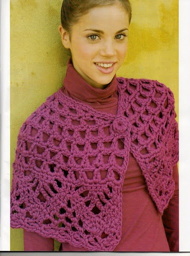 Crochet Stitches That Use Less Yarn : crochet (Id use a less-chunky yarn) Crochet Scarves and Shawls ...