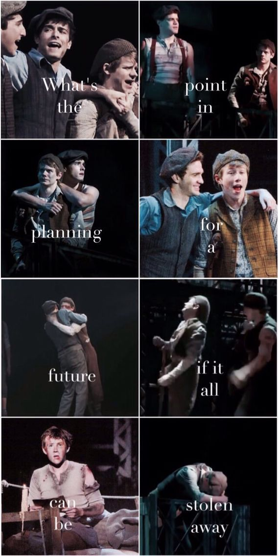 No no I can't take this   Newsies and Toursies - THE TOURSIES WERE MY CAST.  OH MY GOSH.