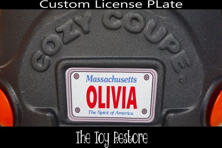 Replacement Decal fits Little Tikes Cozy Coupe #Massachusetts Custom Number Plate #TheToyRestore #LittleTikes #CozyCoupe #LicensePlate #NumberPlate #Vanity #CozyCoupeRedo #CozyCoupeMod #CozyCoupeMakeover