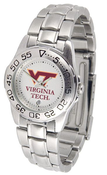 Virginia Tech Hokies Ladies Sport Steel Watch