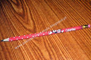 Mickey e Minnie - Lápis personalizado