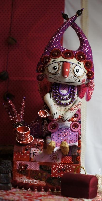 """Коллекционные куклы ручной работы. Ярмарка Мастеров - ручная работа Авторская кукла """"Сказки к чаю"""". Handmade."""