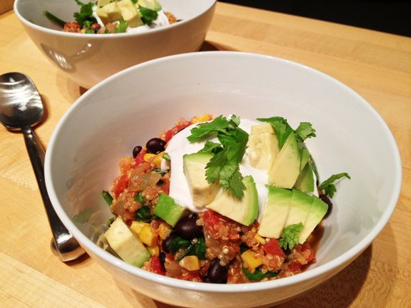 Oven-Baked Mexican Quinoa Casserole   22 Easy One-Pot Meals With No Meat