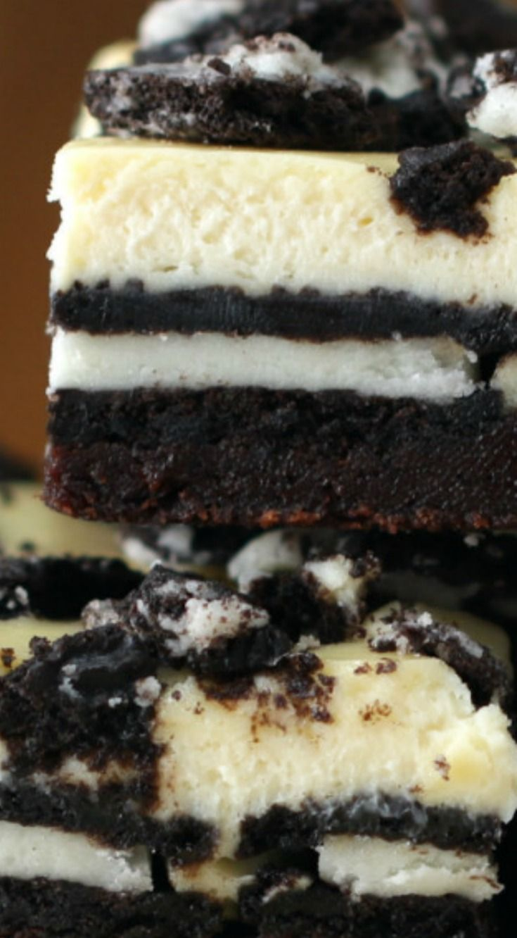 Cookies And Cream Brownie Cheesecake Bars Recipe