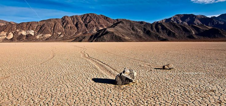 "There's something weird going on in Death Valley National Park: these mysterious ""sailing stones"" are moving across the desert floor, known as Racetrack Playa-- all on their own. For almost a century, scientists were stumped as to how the rocks were able to move, proposing everything from aliens to really, really strong breezes, but with the development of new technology they've started to narrow in on a solid hypothesis.   The stones were first discovered in the early 1900..."