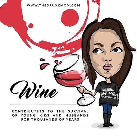 For all you moms out there....drunk moms that is B-) who LOVES their wine?! #uniqueartem #personalize #quotes #fun #funquotes #cartoonself #caricature #cartoon #illustration #character #BrandYourAwesomeness #GetYourCelebrityModeOn #wine #winelover #mom #drunkmom #redwine #vectorart #work #graphicdesign
