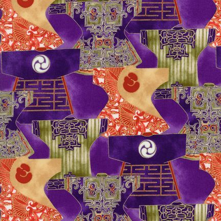Robert Kaufman Fabrics: EUM-5279-3 CELADON from Oriental Traditions 3